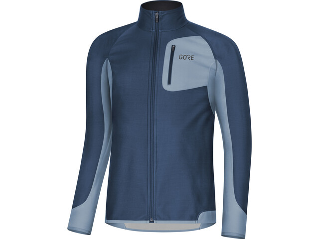 GORE WEAR R3 Partial Gore Windstopper Shirt Men deep water blue/cloudy blue